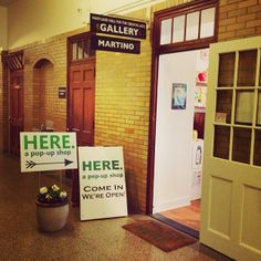 Our new home at the Martino Gallery in Maryland Hall from 3/27-4/6! :)