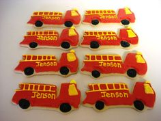 fire truck cookie idea