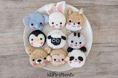 Animal rice balls by Kidfirst Bento (@kidfirstbento)