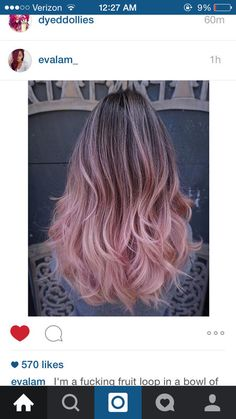Brown to Pink Ombré Balayage - Jessica Spooner