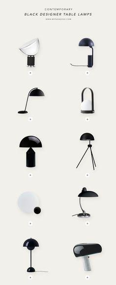 Contemporary designer table lamps