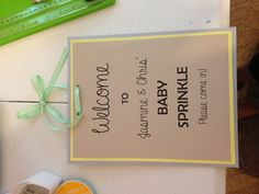 Baby sprinkle shower welcome sign