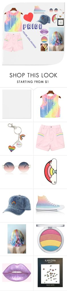 """P R I D E"" by quakeygurl on Polyvore featuring Fendi, Valfré, Charlotte Russe, Converse and Monday"