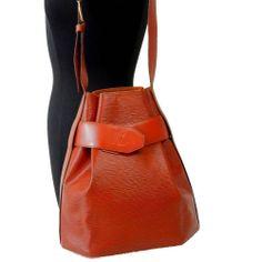 Authentic LOUIS VUITTON EPI Brown SAC D'PAULE PM Shoulder Bag LV Sac Handbag #LouisVuitton #ShoulderBag