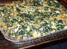Lekker Spinasie in die Oond Spinach Bake, Spinach Casserole, Spinach Recipes, Vegetable Recipes, Vegetarian Recipes, Cooking Recipes, Baked Spinach Recipe, Creamed Spinach Frozen, Vegan Casserole