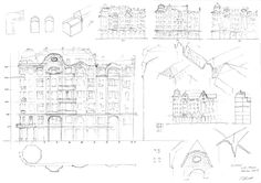 Illustration of tenement design evolution. The first one
