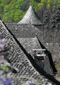 Rooftops of the village of Le Fel ~ Aveyron