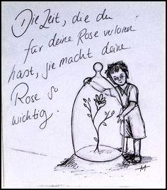 Die Zeit~ Der kleine Prinz und seine Rose.