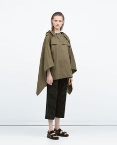 ZARA - WOMAN - COTTON CAPE WITH WRAP COLLAR