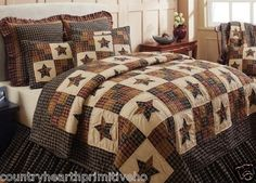 5 PC Queen Cambridge Star Quilt Set Primitive Country Bedding New for 2013 | eBay