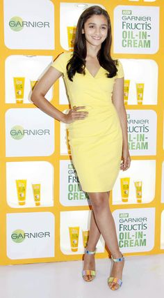 Alia Bhatt at an event to promote Garnier Fructis Oil-In-Cream. #Bollywood #Fashion #Style #Beauty