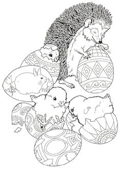 Hedgehog coloring pages Make your world more colorful with free printable coloring pages from italks. Our free coloring pages for adults and kids. Easter Egg Coloring Pages, Spring Coloring Pages, Animal Coloring Pages, Coloring Books, Free Printable Coloring Pages, Coloring Pages For Kids, Easter Crafts, Bunny Crafts, Easter Decor