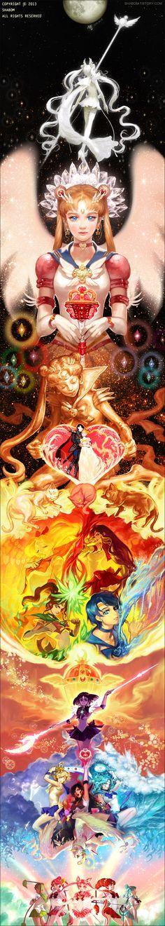 HERMOSO Fanart de Sailor Moon.