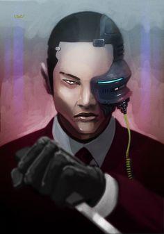 Future, Cyberpunk, Futuristic, Cyborg -- Monocle by *wyv1 on deviantART