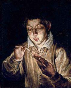 El Greco.  Es formalmente compleja y coherente; Es producto de la intención de hacer una obra de arte; Está sometida a un lenguaje crítico de juicio y apreciación, más o menos elaborado.