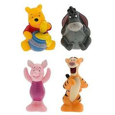 Disney Set of 4 Winnie the Pooh Character Squeeze Toys Including Tigger Eeyore Piglet and Pooh ** You can find more details by visiting the image link.Note:It is affiliate link to Amazon.