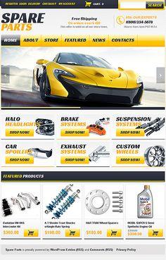 responsive spare parts store jigoshop theme Online Auto Parts Store, Auto Parts Shop, Car Spare Parts, Car Parts, Car Advertising, Advertising Design, Layout Design, Web Design, Logo Design