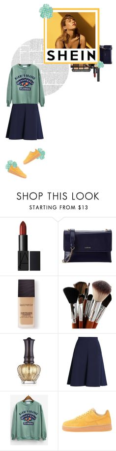 """Feeling It with Shein.com"" by afik ❤ liked on Polyvore featuring Lanvin, Christian Dior, Laura Mercier, Anna Sui and NIKE"