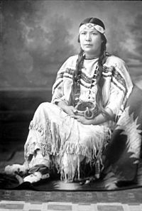 """Mourning Dove (or Christal Quintasket) - Native American author whose novel, """"Cogewea the Half-Blood,"""" is the first written by a Native American woman."""
