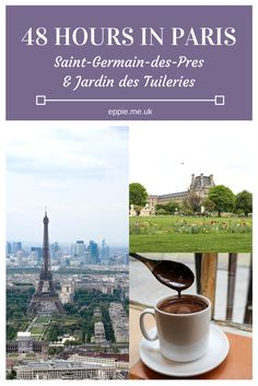 How to spend 48 hours in Paris including Saint-Germain-Des-Pres and the Jardin Des Tuileries. Here you'll find some of Paris' best cafes, restaurants, gardens and parks, including the Montparnass Tower for panoramic views.