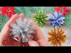 🎄 Новогодняя игрушка ЗА 1 МИНУТУ 🎄 МК/DIY Christmas decorations - YouTube New Year's Crafts, Holiday Crafts For Kids, Christmas Ornaments To Make, Easy Christmas Crafts, Christmas Toys, Christmas Decorations, Paper Flowers Craft, Paper Crafts, Diy Décoration