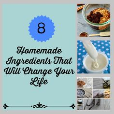 8 Homemade Ingredients That Will Change Your Life ~  Homemade Pumpkin Pie Spice, How to Make Brown Sugar, Homemade Marshmallow Buttercream Frosting,  DIY Cake Flour,  Copycat Bisquick, Homemade Baking Powder, Make Your Own Extracts, How to Make Sweetened Condensed Milk