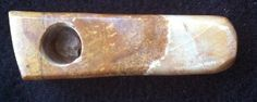 """3"""" Long Hand Carved Seven Springs Onyx Stone Smoking Pipe"""