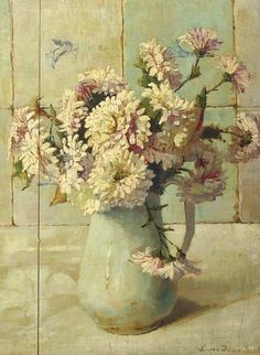 vintage painting not roses but oh my!
