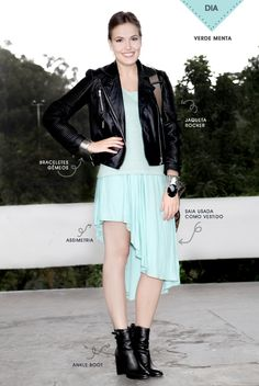 monocromatico + jaqueta de couro preta