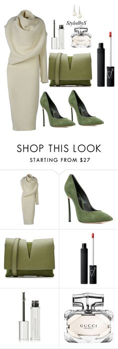 """StyledbyS"" by sforstylebys on Polyvore featuring Acne Studios, Casadei, Jil Sander, NARS Cosmetics, Givenchy, Gucci, Belpearl, StreetStyle, WorkWear and officechic"