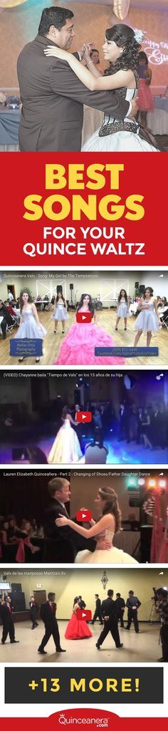 The Quinceanera waltz is a very special moment and undoubtedly the most emotional moment for you and your guests.  - See more at: http://www.quinceanera.com/traditions/best-songs-for-your-quinceanera-waltz/?utm_source=pinterest&utm_medium=social&utm_campaign=traditions-best-songs-for-your-quinceanera-waltz#sthash.62DtwWOA.dpuf