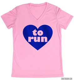 This Love to Run shirt is a great Valentine's Day gift!