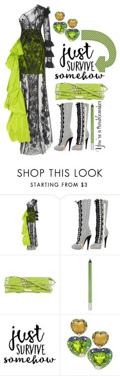 """""""Self absorbed"""" by sunnydays4everkh ❤ liked on Polyvore featuring Versace, Burberry, Urban Decay and Margot McKinney"""