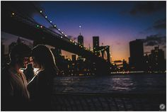 DUMBO engagement photos, Brooklyn Bridge, New York City Wedding Photographer, skyline, sunset