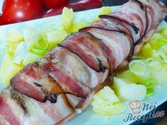 Roláda z kuřecích prsíček s náplní   NejRecept.cz Chicken Strips, Pork, Snacks, Dishes, Meat, Recipes, Soups, Kale Stir Fry