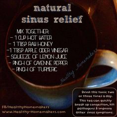 my fav remedy for sinus and congestion