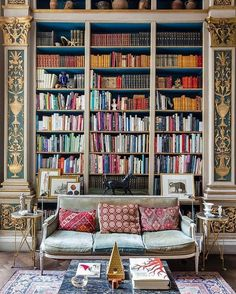 Stunning Library Room Design Ideas With Eclectic Decor - Page 54 of 58 - Best Home Decor List Library Room, Dream Library, Cozy Library, Grand Library, World Library, Central Library, Photo Library, Home Library Design, House Design