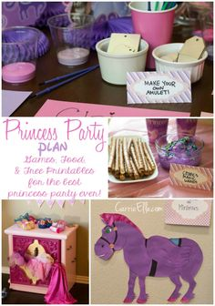 Party Like a Princess: Disney Princess party ideas featuring Sofia the First (but will work for other princesses, too!). Games, Snack ideas, and even a ton of free princess printables.