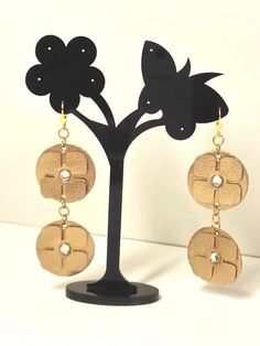 Florence Italy, Earrings Handmade, Etsy Shop, Metal, Gold, How To Make, Leather, Metals, Florence