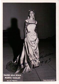 Callas, Maria - Signed Photo in Il Pirata 1973