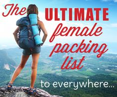 A great resource for the travel addicted ladies out there.  - Her Packing List