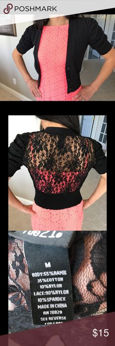Black sweater lace cardigan Generally used black lace cardigan. Rue21. Very flattering Rue 21 Sweaters Cardigans
