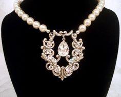 Bridal necklace wedding jewelry wedding necklace by treasures570, $70.00