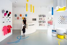 One more interior design project from Spain – bright and colorful Little Stories kids concept store in Valencia, designed by CLAP Studio. Kids Store, Baby Store, Shop Interior Design, Retail Design, Shoe Store Design, Shoe Shop, Store Interiors, Shop House Plans, Valencia
