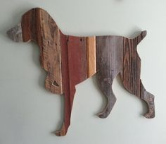Pointer silhouette made from scrap wood.