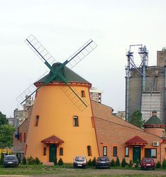 Windmill in Pančevo near Tamiš river, Serbia