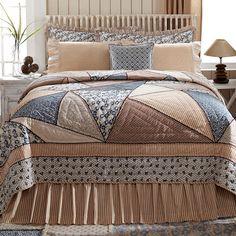 Millie Patchwork Crazy Quilt, Lasting Impressions, VHC Brands