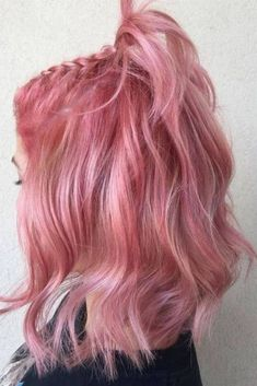 50 bold and subtle ways to wear pastel pink hair - Beliebt Frisuren - Belleza Pink Hair Dye, Pastel Pink Hair, Rosy Pink, Curly Pink Hair, Rose Pink Hair, Pretty Pastel, Hot Hair Colors, Hair Color Purple, Pelo Multicolor