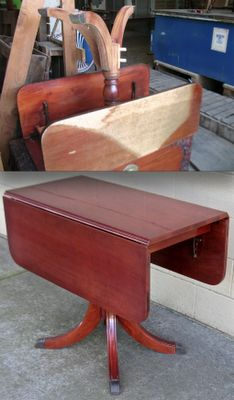 Duncan Phyfe drop leaf table. I have this table and it adds so much character.