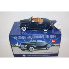 FRANKLIN MINT 1939 FORD DELUXE CONVERTIBLE COUPE WORLD FAIR CAR 1/24 SCALE